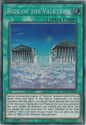 Yu-Gi-Oh: RIDE OF THE VALKYRIES - SHVA-EN006 - Secret Rare Card - 1st Edition