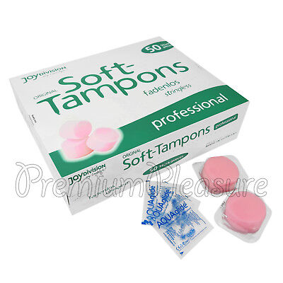 50 x Joy Division Soft Tampons Proffesional Stringless sponge Sport Sex SPA BOX