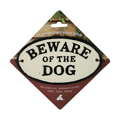 Beware of the Dog - Oval Cast Iron Sign