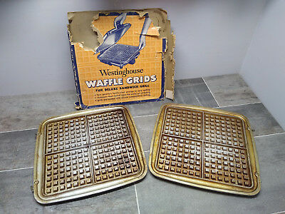 Vintage WESTINGHOUSE Waffle Grids for Deluxe Sandwich Grill maker iron