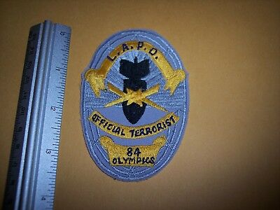Los Angeles 1984 Olympic Official Terrorist Patch California New