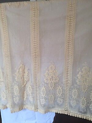 Old lace curtain