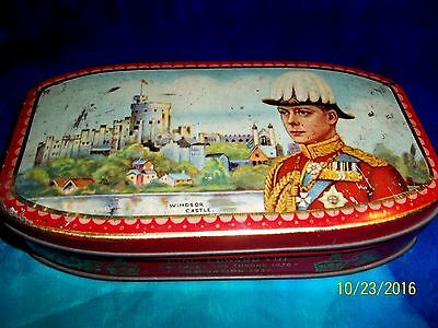 1936 Hrh King Edward Viii Accession To The British Throne Walter's Toffee Tin