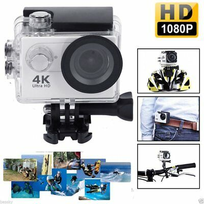 Ultra 4K1080P Waterproof Sport DV WiFi Action Camera Accessories Kit Go Pro Bag