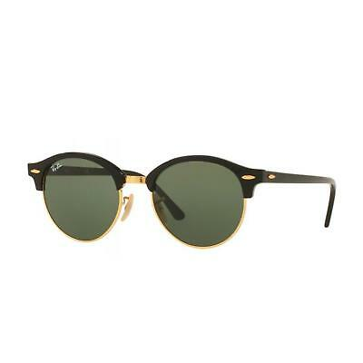 RAY-BAN CLUBROUND RB4246 901 51 Black Green Sonnenbrille - EUR 119 ... fc5d015c98
