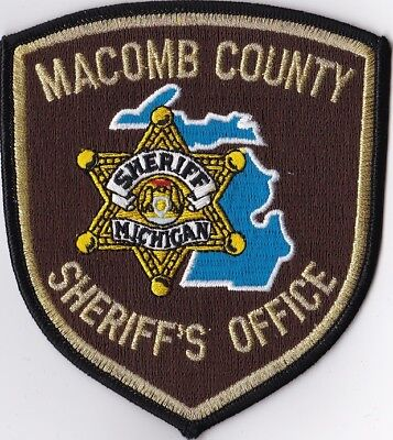 Macomb County Sheriff's Office brown Michigan MI Police patch