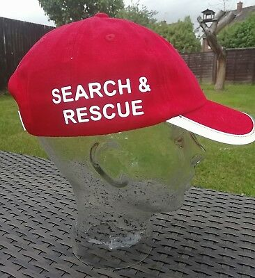 Bespoke Search and Rescue baseball cap reflective peak text G4H Rescue Clothing