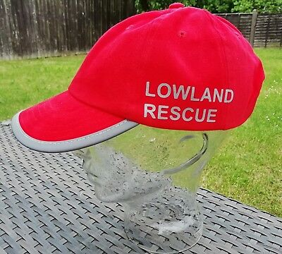 Bespoke Lowland Rescue baseball cap reflective peak & text G4H Rescue Clothing