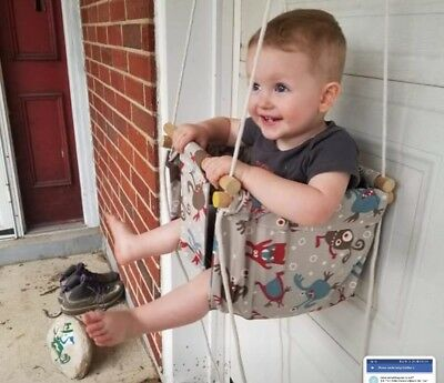 home made canvas indoor/outdoor baby/toddler swing