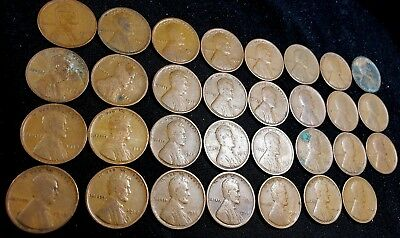Roll Of 50 Lincoln Wheat Pennies ~ No Culls 1930 P