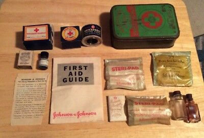 Vintage Boy Scouts of America First Aid Kit Johnson & Johnson #2