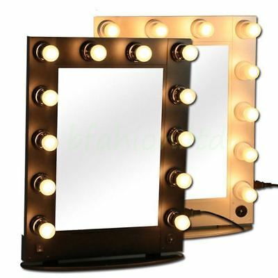Chende Lighted Vanity Mirror Hollywood Makeup Mirror with Dimmer for Dressing B