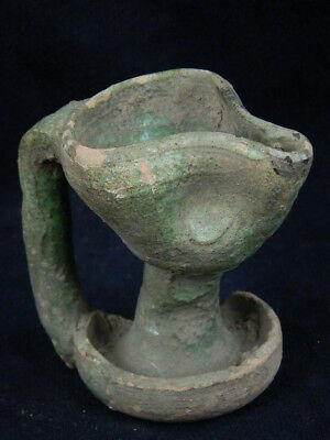 Ancient Glazed Lamp Islamic 1100 AD No Reserve  #PT708