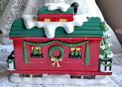 "Train Lovers! ""Caboose""  of the ""Holiday Express"" by Mrs. Fields Cookie Jars"