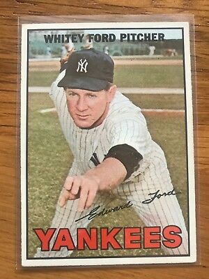1967 Topps Whitey Ford EX* #5 Yankees Hall Of Fame