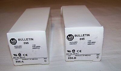 Allen Bradley  595A And  595B  Auxiliary Contact