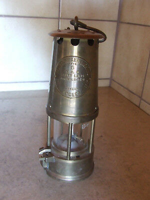 Grubenlampe Protector Lamp & Lighting Type 6 M & Q Safety Lamps Makers Eccles