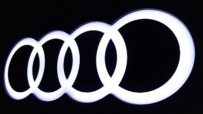 Audi sign lighted sport car garage