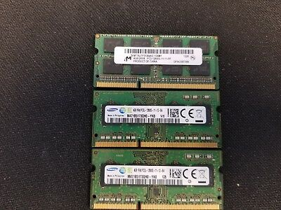Samsung and Micron PC3-12800 4GB SODIMM Laptop DDR3 Memory