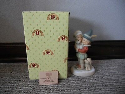 Vintage 1998 Enesco Memories of Yesterday Wishin' You A Jolly Holiday IOB
