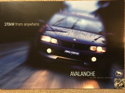 Car Brochure - 2004 Holden HSV Avalanche - Australia