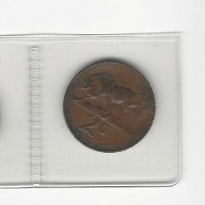 South Africa 2 cent 1965  afrikaans