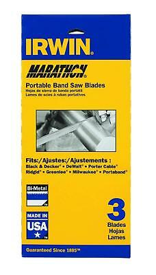IRWIN Portable Band Saw Blade, 44-7/8-inch X .020 X 18 Tooth, 3-Pack (3074002P3)