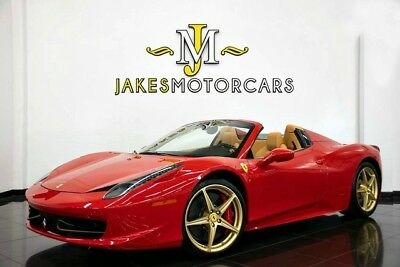2013 Ferrari 458 Spider ($320K+ MSRP)...ONLY 6700 MILES! 2013 FERRARI 458 SPIDER~ HIGHLY OPTIONED!~RED ON TAN~ PRISTINE~ ONLY 6700 MILES!