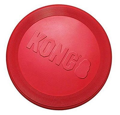 KONG Flyer Dog Toy Red Rubber Fetch Frisbee Small / Large