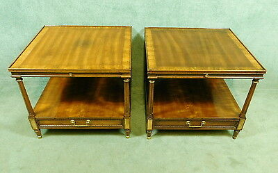 Pair Of Reproduction Walnut And Parcel Gilt Side Tables - Heritage Furniture