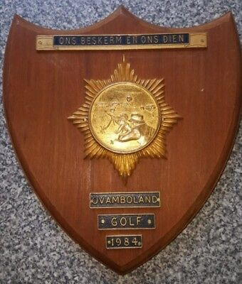 1984 South African Police Border Duty Ovamboland Golf Company Wall Plaque