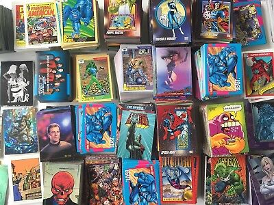 1000's Of Trading Cards Marvel DC Lot Complete Sets Near Sets Doubles + Singles