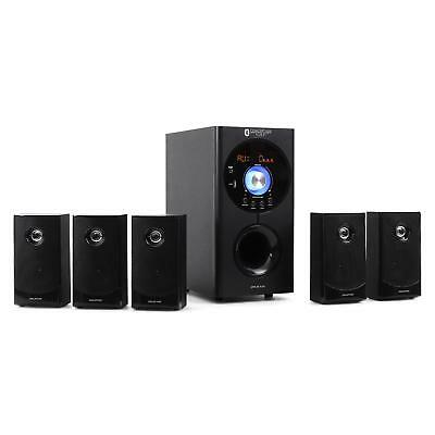Home Cinema 5.1 Auna Set D Enceintes Bluetooth Subwoofer 16,5Cm Usb Sd Mp3 Aux
