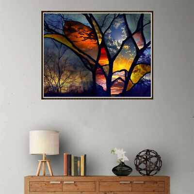 DIY 5D Diamond Painting full drill colorful forest Embroidered Cross Stitch Best