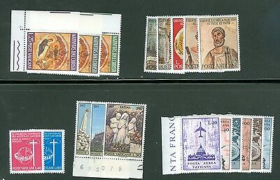 Vatican City 1967 Compete MNH Year Set