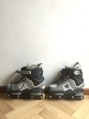 Rollerblade Downtown TRS Aggressive Inline Skates 9 Used EU 43 Grey