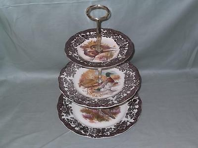 Royal Worcester Palissy Game Series 3-Tier Hostess Cake Stand (V2)