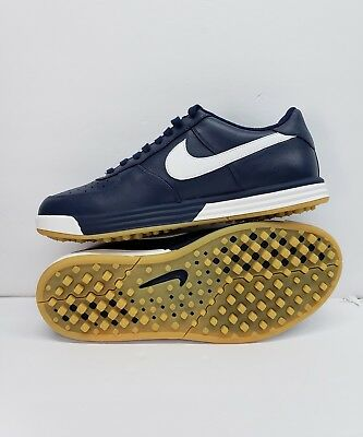 new concept 04abd 2cae9 New Nike Lunar Force 1G Golf Shoes Mens 818726-400 Navy White Size U.s. 9.5