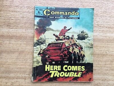 Commando War Comic - No 1054 Here Comes Trouble