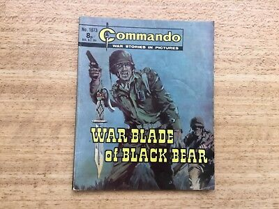 Commando War Comic - No 1073 War Blade Of Black Bear