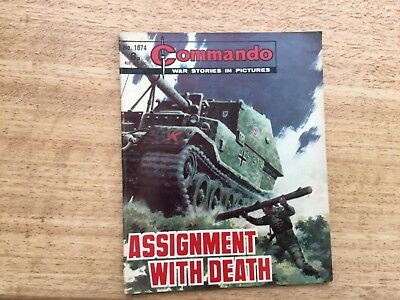 Commando War Comic - No 1074 Assignment With Death