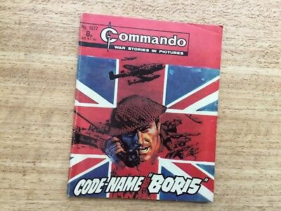 "Commando War Comic - No 1077 Code-Name ""Boris"""