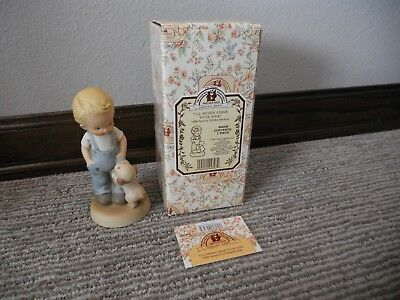 Vintage 1998 Enesco Memories of Yesterday I'll Never Leave Your Side IOB