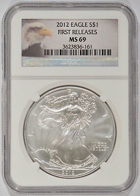 United States 2012 American Silver Eagle $1 NGC MS69 First Releases 3623836-161