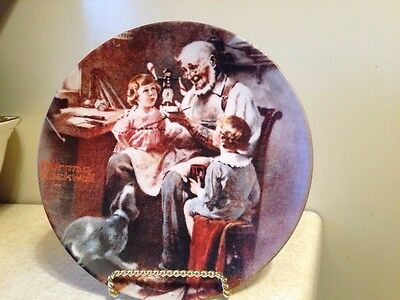 "Knowles Norman Rockwell ""The Toy Maker"" 1977 FIRST EDITION Plate"