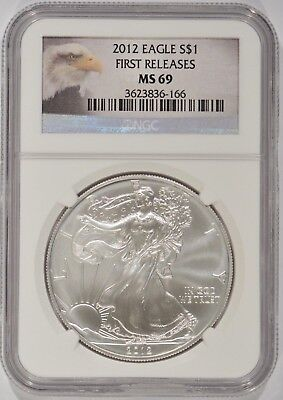 United States 2012 American Silver Eagle $1 NGC MS69 First Releases 3623836-166