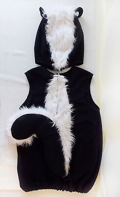 EUC Pottery Barn Kids SKUNK Costume 4-6 Child Animal Lil' Stinker Halloween