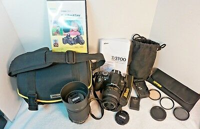Nikon D D3100 14.2MP Digital SLR Camera - Black -Kit w/ AF-S G DX VR 18-55mm +++