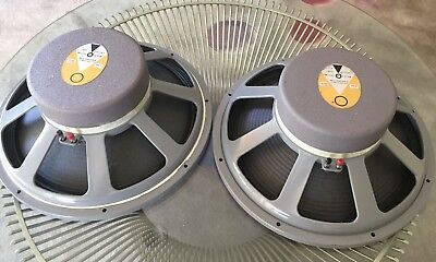 Vintage JBL LE15B 15 Inch Woofers Rare! Cloth Surrounds! 8ohm