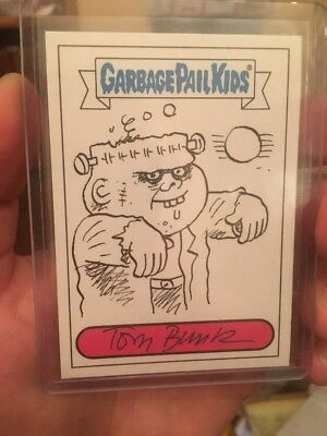 Garbage Pail Kids Sketch Card Tom Bunk BNS Series 2 Frank N. Stein